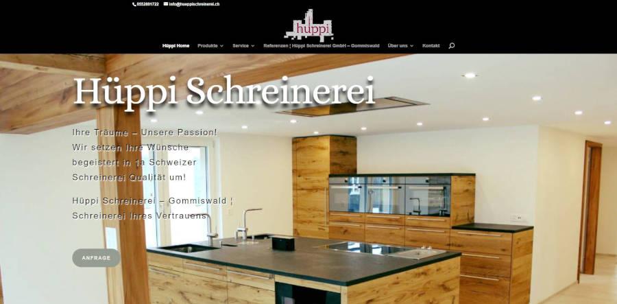 Hueppi Schreinerei GmbH - Onlinemarketing