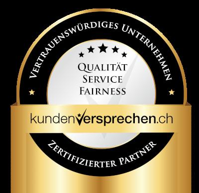 Internet-Marketing-Werkstatt.ch ist ein von Kundenversprechen zertifiziertes, vertrauenswürdiges Unternehmen